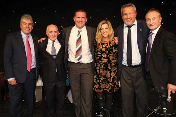 Sporting celebrities joined the charity's Christmas Lunch....