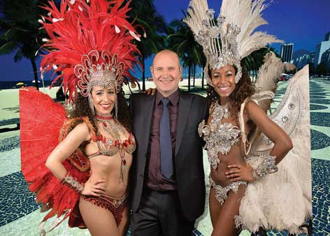 ... as Brazilian dancers enlivened the festivities.