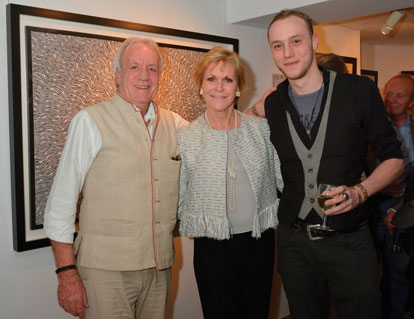 Nick Rendall (right) with his parents John and Melanie.