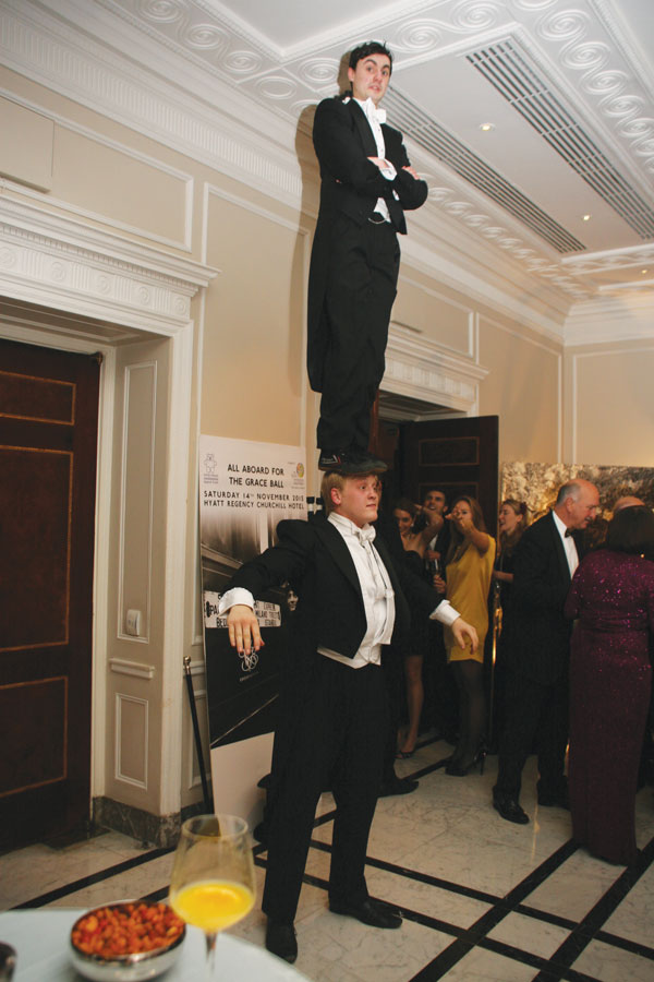 Circus Uncertainty at the Grace Ball 2015.