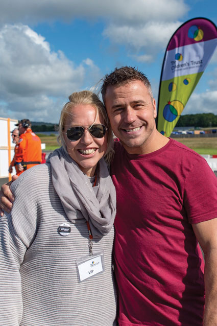 Supercar hosts, Gail Emms and Craig Phillips.