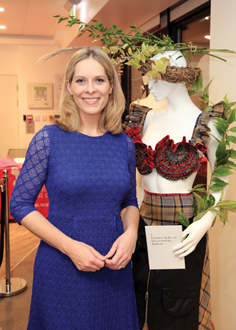 Weather presenter Kirsty McCabe with Lorraine Kelly bra, created by Barbour.